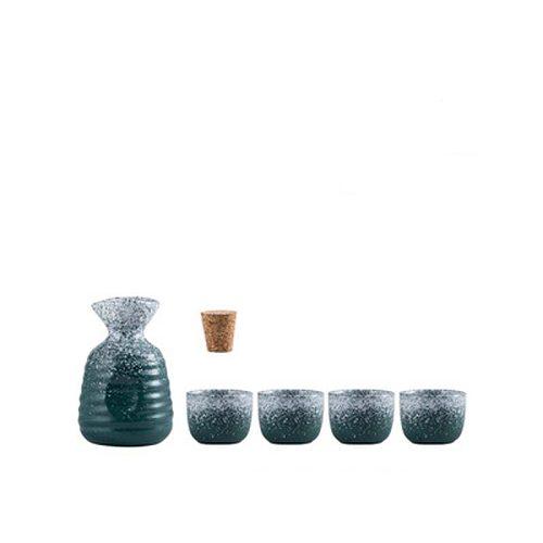 FANCITY Wine warmer Japanese ceramic sake wine utensils household hot wine hot jug set white rice wine household heating wine wa