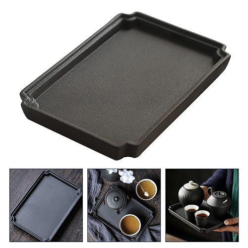 1Pc Ceramic Serving Tray Porcelain Tea Plate Tea Platter Desktop Storage Stand