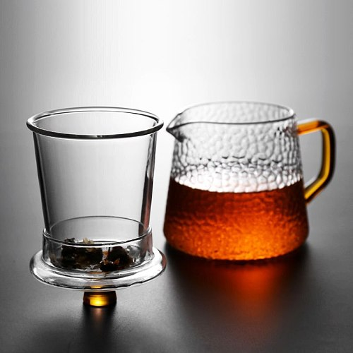 Glass Teapot Set Household Office Heat Resistant High Temperature Explosion Proof Teaware Tea Infuser Tea Set Teacups