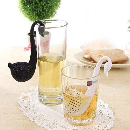 Creative Cute Silicone Tea Infuser Water Duck Shape Tea Filter Diffuser Reusable Tea Strainer Spice Loose Tea Leaf Herbal Too