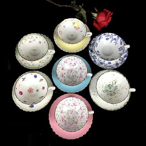 Gold Afternoon Tea Cup Saucer Set Coffee Cup Tea pot Set Tea Tray Bridesmaid Gift