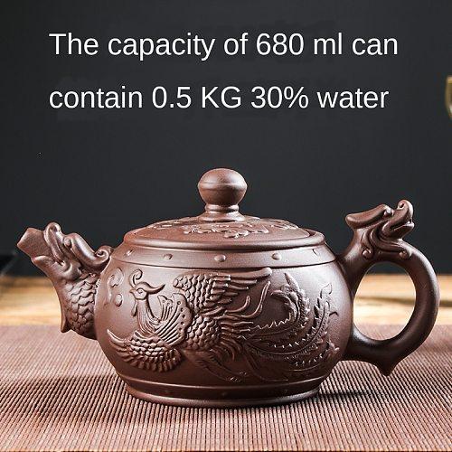 Large Capacity Purple Sand Pot Teaware Handmade Ball Filter Bubble Teapot Ceramic Household Chinese Tea Set Hot Sale Teacup Set