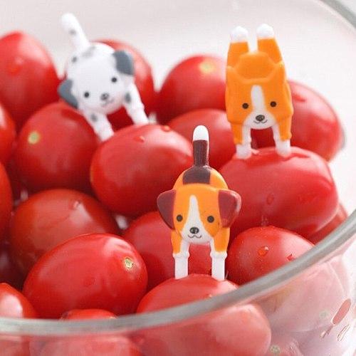 7Pcs Cute Mini Animal Cartoon Food Picks Children Snack Cake Dessert Food Fruit Forks Lunch Bento Accessories Party Decor