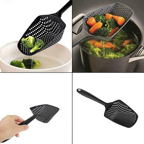 1pc Kitchen Nylon Soup Spoon Ladle Anti-scald Skimmer Strainer Fry Food Mesh Portable Filter Long Handle Home Kitchen Tools