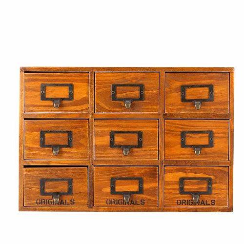 Bar Soul Wooden Storage Box Herbs Seasonings Solid Wood Nine Grids Sturdy Kitchenware Bar Tools