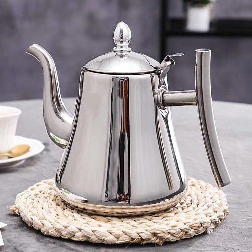 1000/1500ml Stainless Steel Royal Teapot Golden Silver Tea Pot With Infuser Tea Filter Coffee Tea Kettle Water Kettle Drinkware