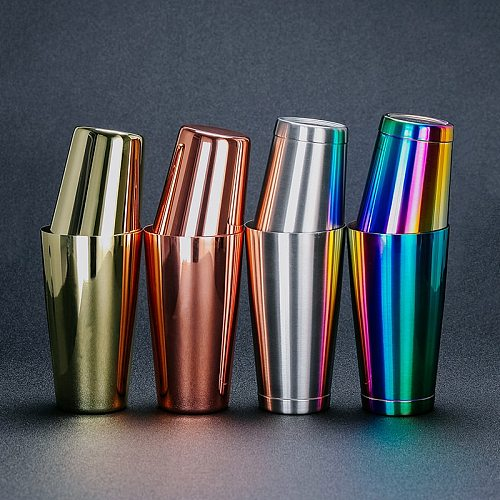 304 Stainless Steel Boston Cocktail Shaker Metal Bartending Mixer Bar Two Cup Shaker Multicolor Drink Barware Bartender Use