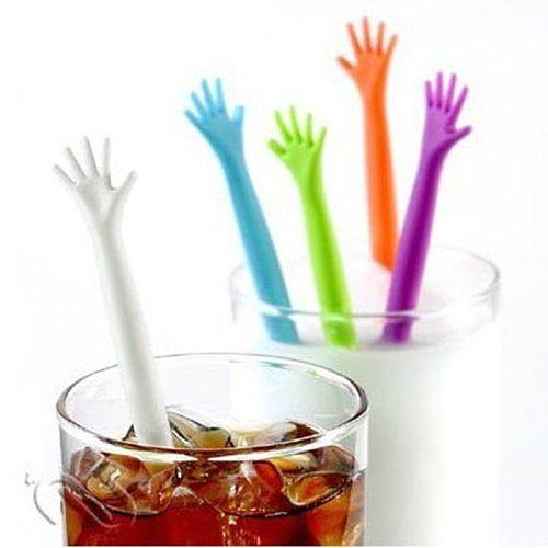 5pcs/set Hot Sale HELP ME Coffee Stirrer Stirring Rod Juices Spoon Bar Rrabble Rrod Drink Stirre Coffee Stir Stick Tools