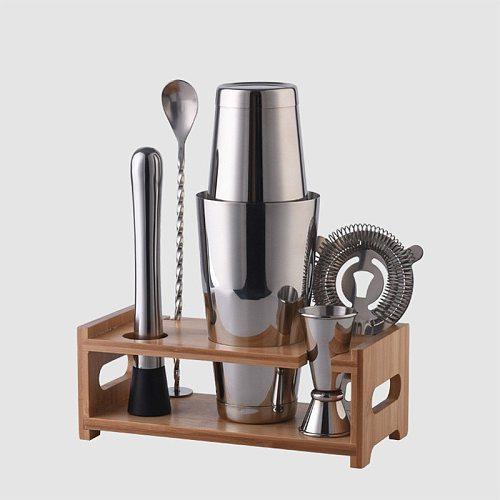 Shike Cup Cocktail Shaker Stainless Steel Hand Shake Shaker Tea Shop Pot Bar Tool Sets Wine Bottle Cocktail Shaker