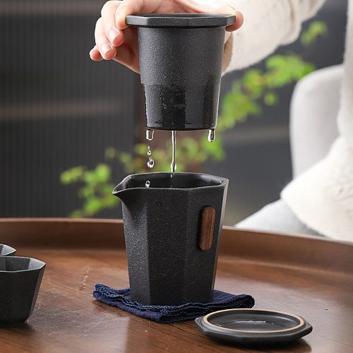 Ceramic teapots gaiwan teacups chinese teaware portable travel tea sets with travel bag Free shipping