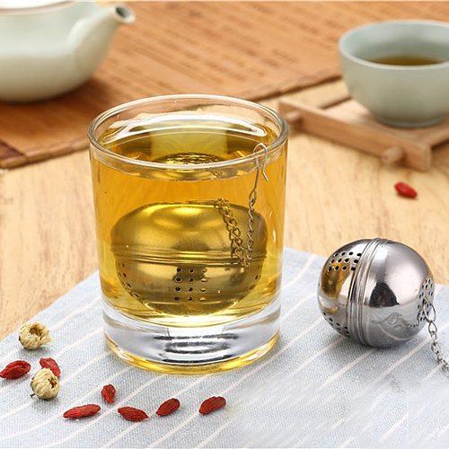 Tea Infusers Stainless Steel Ball Loose Sphere Tea Leaf Strainer Coffee Herbal Spice Filter Diffuser Handle Tea Ball