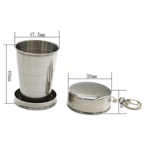 Kitchen Bar Tools Cup Retractable Folding Stainless Steel Teacups Metal Fenkicyen