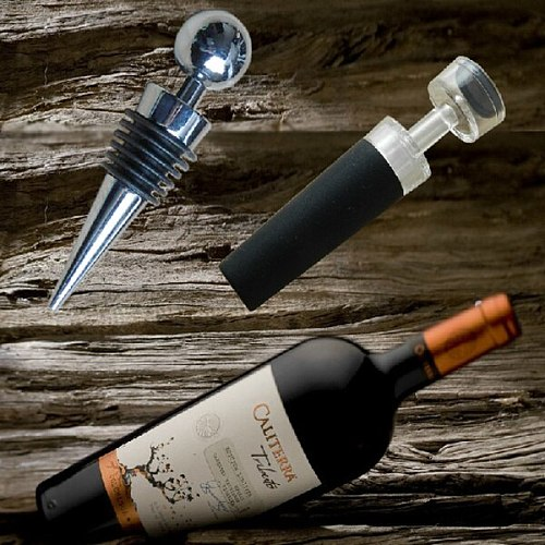 Reusable vacuum wine stopper Acrylic Freshness Bottle cap Stopper wine cork sealing plug  wholesale