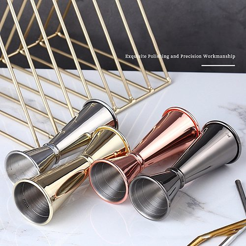 1pc Cocktail Bar Jigger Stainless Steel Japanese Design Jigger Double Spirit Measuring Cup For Home Bar Party Bar Accessories