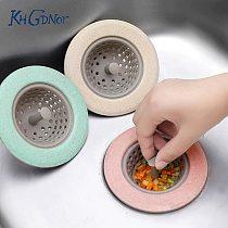 KHGDNOR Silicone Wheat Straw Strainer Kitchen Sink Shower Hair Filter Strainer Sewer Anti-Clogging Strainer