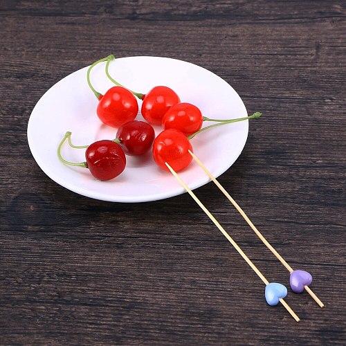 200pcs Heart Design Fruit Food Picks Creative Cocktail Drink Picks Sticks Party Supplies Favors for Home Bar