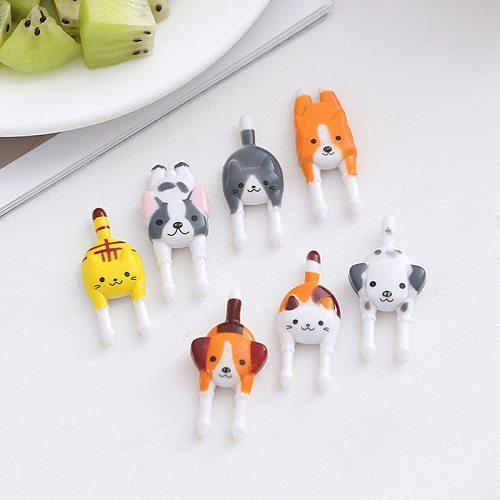 7Pcs/set  Cute Mini Animal Cartoon Food Picks Children Snack Food Fruit Forks