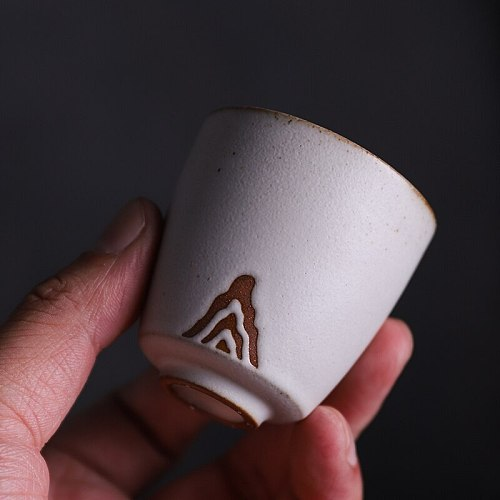 LUWU japanese ceramic tea cup handmade mountain teacup chinese kung fu cup 50ml