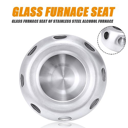 Round Stainless Steel Teapot Warmer Stand Flower Tea Teapot Tealight Warmer Trivets Holder Base Hollow Teaware Tools
