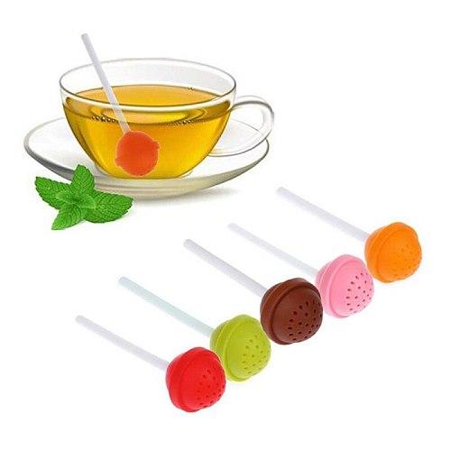 1pcs Creative Lollipop Shape Silicon Sweet Tea  Household Supplies Infuser Candy Lollipop Leaf Mug