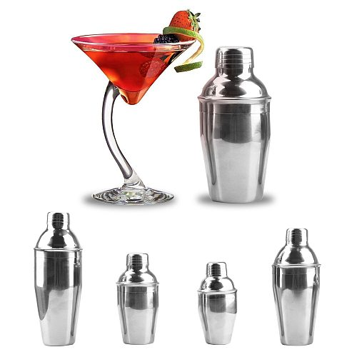 NICEYARD 250/350/550/750ml 1PC Stainless Steel Cocktail Shaker Boston Martini Cocktail Wine Mixer Professional Party Bar Tools
