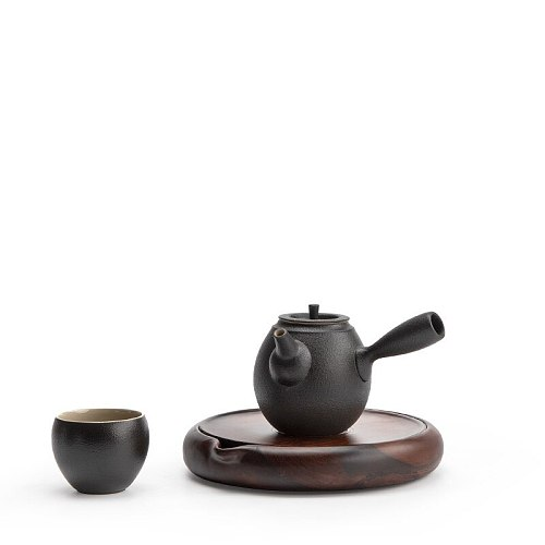Ebony teapot trivets wood teapot holder household tea pot stand