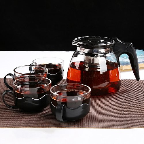 Kungfu Tea Glass Tea Set Kungfu Teapot with Four Cups in One Pot