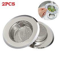 Kitchen Sink Strainer Stainless Steel Flume Filter Mesh Trap Bathtub Wash Basin Sundries Drain Hole Strainer Kitchen Gadget