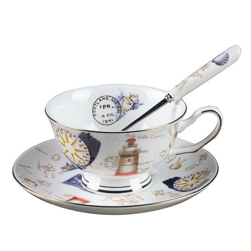 Top Grade Nordic Bone China Coffee Cup Creative European Tea Cup Set And Saucer Home Party Afternoon Tea Teacup Porcelain Nice G