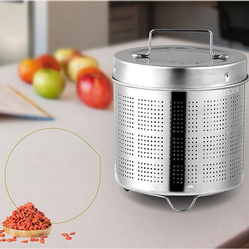 Stainless Steel Tea Infusers Basket Fine Mesh Tea Strainer Lid Tea And Coffee Filters With 2 Handles Reusable