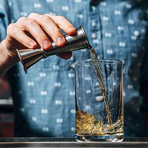 Cocktail Bar Jigger Design Japanese Stainless Steel Measuring Cup Jigger Double Spirit Bartender