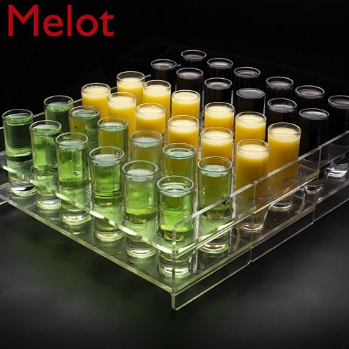 Cocktail Cup Holder Bar Bullet Cup Holder Creative Transparent Acrylic Cup Holder Pub Wine Bucket Bar Accessories Home Bars
