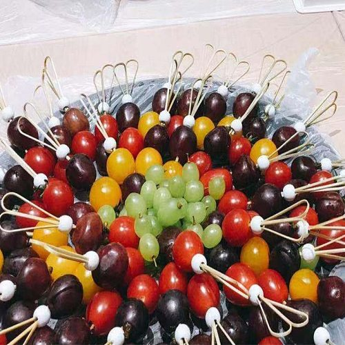 50Pcs 9/12cm Disposable Bamboo Fork Twisted Party Buffet Fruit Desserts Pick Skewer Food Cocktail Sandwich Fork Stick