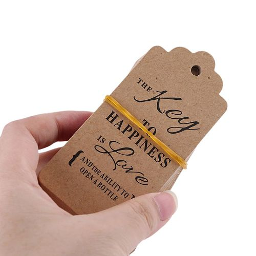 50x Vintage Key Bottle Opener +Tag Card Keychain Wedding Party Favors Souvenirs with Tag Card Key Bottle Opener