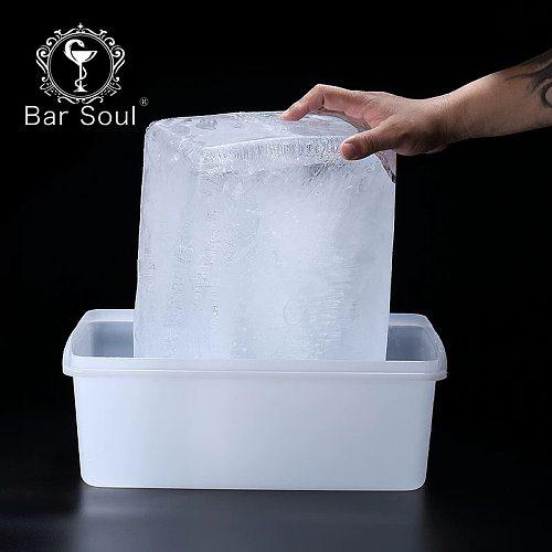 Bar Soul Ice Mold Large Ice Box Ice Block Ice Maker Bright Ice Bartender Tools Bar Tools Food Grade Plastic Durable Box