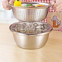 Stainless Steel Spaghetti Vegetable Strainer Colander Home Restaurant Kitchen Food Sieve Salad Spinner