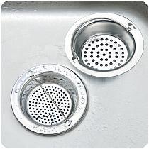 Kitchen Sink Strainer Stainless Steel Sink Mesh Basket Filter Strainer with Handle for Garbage Disposal