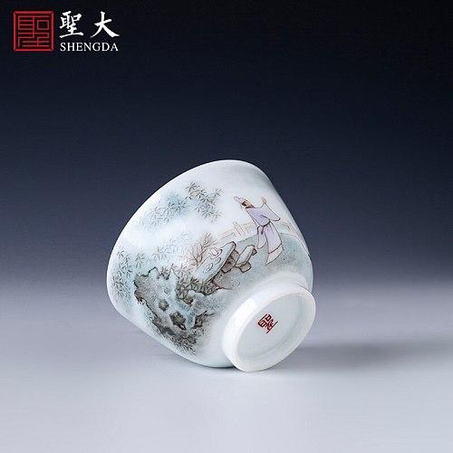 teacups hand-painted ceramic kung fu new colour character li bai masters cup all hand jingdezhen tea sample tea cup