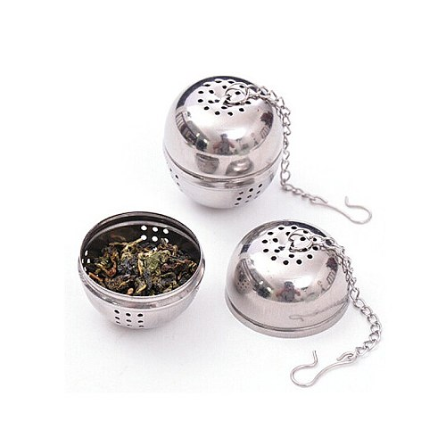 New Essential Stainless Steel Ball Tea Infuser Mesh Filter Strainer with/hook Loose Tea Leaf Spice Home Kitchen Accessories