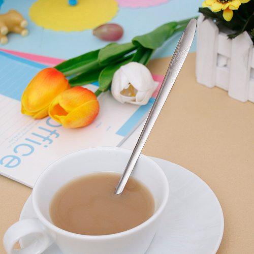 Spoon Small Glod Silver Stainless Steel Tea Coffee Spoon For Yogurt Ice Cream Dessert Long Handled Spoon Cutlery Kitchen
