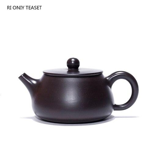 160ml Yixing Boutique Purple Clay Teapots Stone Scoop Tea Pot Beauty Kettle Handmade Black Mud Tea Set Customized Authentic Gift