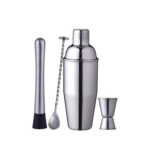 Cocktail Shaker Set 24 oz Stainless Steel Drink Shaker with Built-in Strainer  The 4 Essential Bar Tools  Cocktailshaker Kit