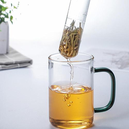 Reusable Tea Strainer Healthy Food Grade Flavor Total Tea Infuser Gadget  Cork Glass Bottle Transparent Brewing Test Tube