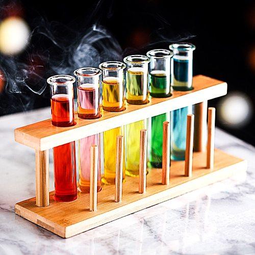 Test Tube Vial Shot Glasses Holder Rack Bar Amigos- Test Tube Party Drink Shots