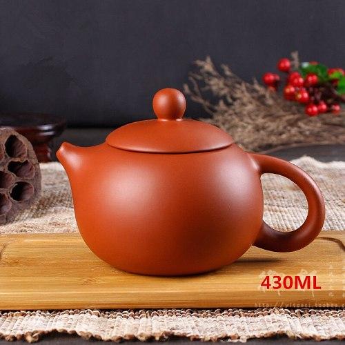 2020 Yixing Genuine Zisha Pot Ball Hole Xi Shi Pot Full Handmade Clay Teapot Zisha Large Capacity Teapot Household 430ml Kettle