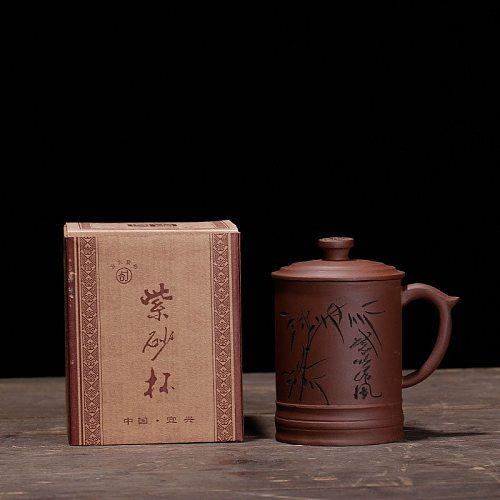 Teacup Purple Clay Tea cup Ceramic Cup Zisha Mug Chinese Teaware Free Shipping