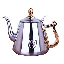 1.2L Induction Cooker Safe Stainless Steel Tea Kettle Teapot With Infuser Home Kitchen Supplies