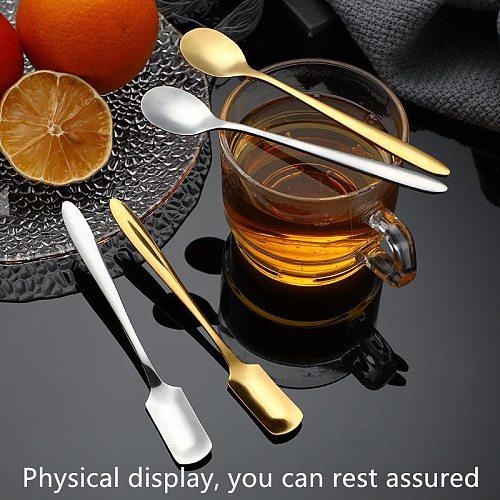 Stainless steel ice cream sugar tableware coffee dessert spoon golden kitchen teaspoon fruit salad spoon smoothie spoon
