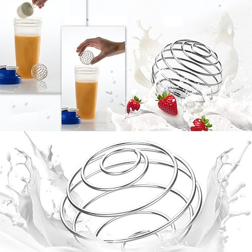Stainless Steel Whisk Ball Mixed Shaker Bottle Protein Fitness Water Bottle Juice Milk Mixer Mixing Bar Drink Kithcen Gadgets