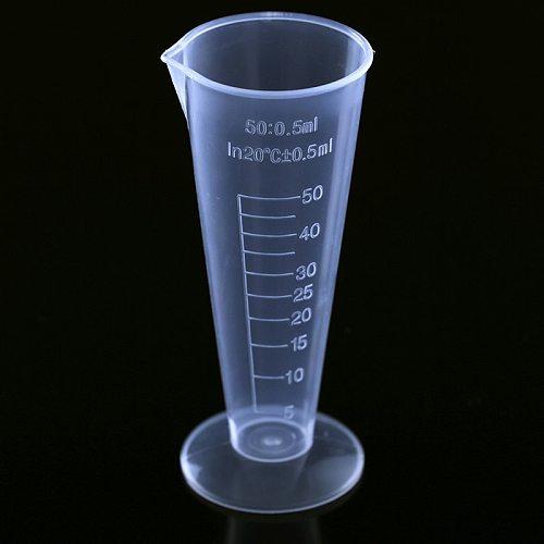 100ml Measuring Cup Transparent Plastic Measuring Cup Hotel Bar Jug Pour Spout Cylinder Reusable Kitchen Measuring Tool